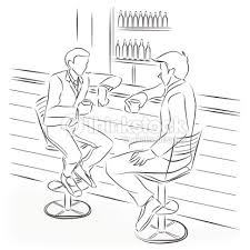 Two Men Drinking